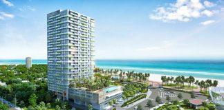 Bất động sản nghỉ dưỡng biển, gần TP HCM, đảm bảo các yếu tố pháp lý, chất lượng, tiện ích hứa hẹn thu hút đầu tư thời gian tới. Ảnh phối cảnh DIC Star Apart Hotel. - WikiLand