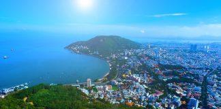 Khung cảnh thành phố Vũng Tàu nhìn từ trên cao. Ảnh: Nguyễn Ngọc Lan - WikiLand