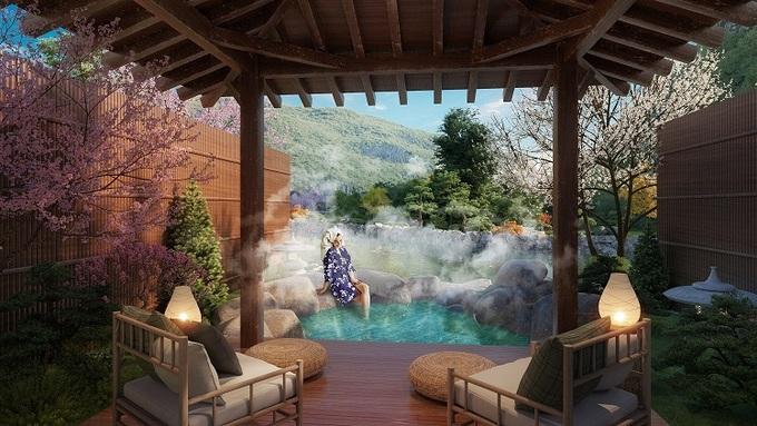 Bể tắm tại Sun Onsen Village Limited Edition đem lại giây phút thư giãn. - WikiLand  Sun Group ra mắt tổ hợp biệt thự khoáng nóng tại Quảng Ninh sun quang hanh betam 008 1 5121 1610333531 1