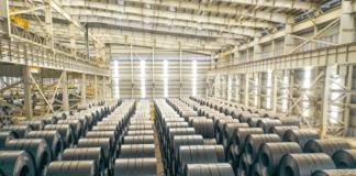 Thép HRC, mác SPA-H đặc chủng là loại nguyên liệu sẽ được Hoà Phát dùng để sản xuất container. Ảnh: Nguyên Nghi - WikiLand