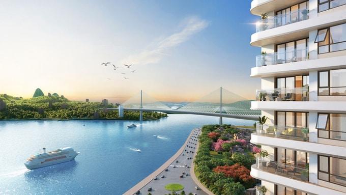 View nhìn trực diện ra biển tại Best Western Premier Sapphire Ha Long. - WikiLand  Bất động sản Hạ Long hút dòng đầu tư image003 8135 1620201750