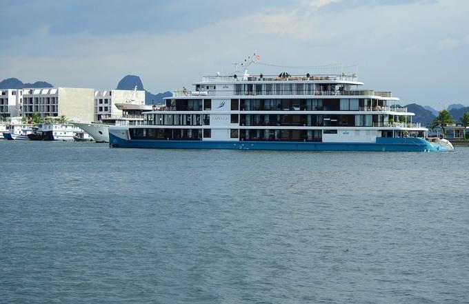 Những du thuyền hạng sang nằm bờ suốt thời gian dài ở Cảng tàu khách quốc tế Tuần Châu. Ảnh: Minh Cương - WikiLand  Hàng trăm chủ tàu du lịch nguy cơ phá sản anh 2 jpg 5630 1623598805
