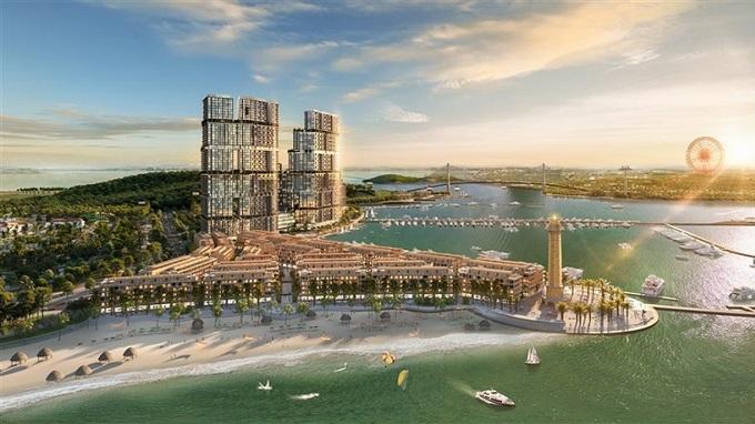 Phối cảnh tổ hợp bất động sản giải trí Sun Marina kề bên Vịnh Du thuyền. - WikiLand  1.000 căn hộ Sun Marina Town được giao dịch trong một tuần image001 5518 1623053582