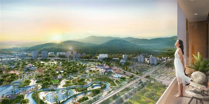View thành phố và tổ hợp giải trí từ căn hộ Sun Marina Town. - WikiLand  1.000 căn hộ Sun Marina Town được giao dịch trong một tuần image005 1282 1623053582