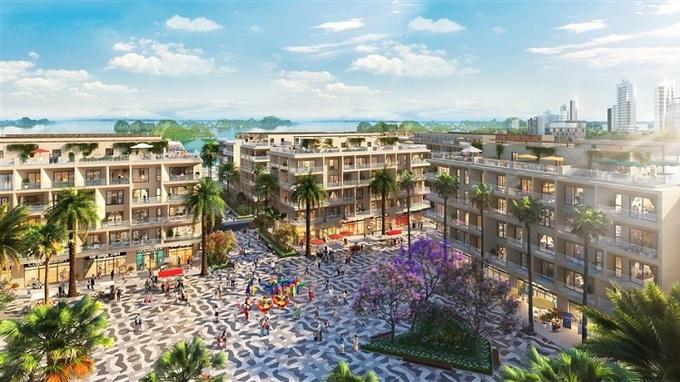 Quảng trường Kim cương, trung tâm dự án. - WikiLand  1.000 căn hộ Sun Marina Town được giao dịch trong một tuần image007 6890 1623053582