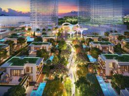 Xu hướng sống xanh đang góp phần định hình thị trường bất động sản thế giới. Ảnh phối cảnh dự án Aria Vũng Tàu. - WikiLand