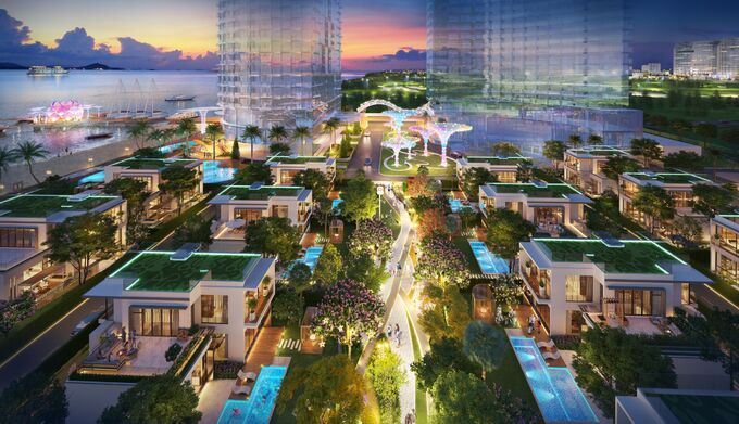 Xu hướng sống xanh đang góp phần định hình thị trường bất động sản thế giới. Ảnh phối cảnh dự án Aria Vũng Tàu. - WikiLand  'Sống xanh' thành xu hướng bền vững trên thị trường bất động sản ps04 cv bon mua dem v12 1192 1626081714
