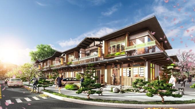 Nhà phố tại phân kỳ Binh Chau Onsen được thiết kế tối đa hóa khoảng xanh, không gian mở, sử dụng nhiều loại vật liệu tự nhiên truyền thống của người Nhật. - WikiLand  NovaWorld Ho Tram giới thiệu phân kỳ mới Binh Chau Onsen h3 6490 1633857131