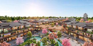 Binh Chau Onsen được thổi hồn cảm hứng từ kiến trúc đậm chất Nhật Bản, có sự giao thoa giữa vẻ hoài cổ, sang trọng và hơi thở hiện đại. Ảnh phối cảnh: Novaland. - WikiLand